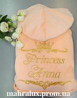 Жіночий махровий халат «Королівський персик»