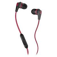 Навушники вакуумні з мікрофоном SkullCandy Ink'd 2.0 Black Red