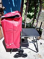 Сумка тележка на 6 колесах со стульчиком
