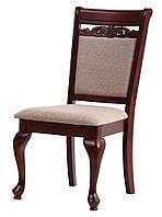"""Классический стул """"Карина"""" (ТК велюр беж) (каштан)"""