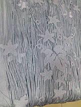 """Шторы нити """"Листья"""" серый, фото 3"""