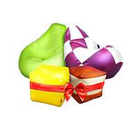 Акция на бескаркасный комплект при покупке двух груш -два пуфика бесплатно.