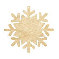 Высечка, Снежинка 3, 10х8,5см, 4мм, фанера