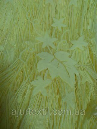 """Шторы нити """"Листья"""" ярко желтый, фото 2"""