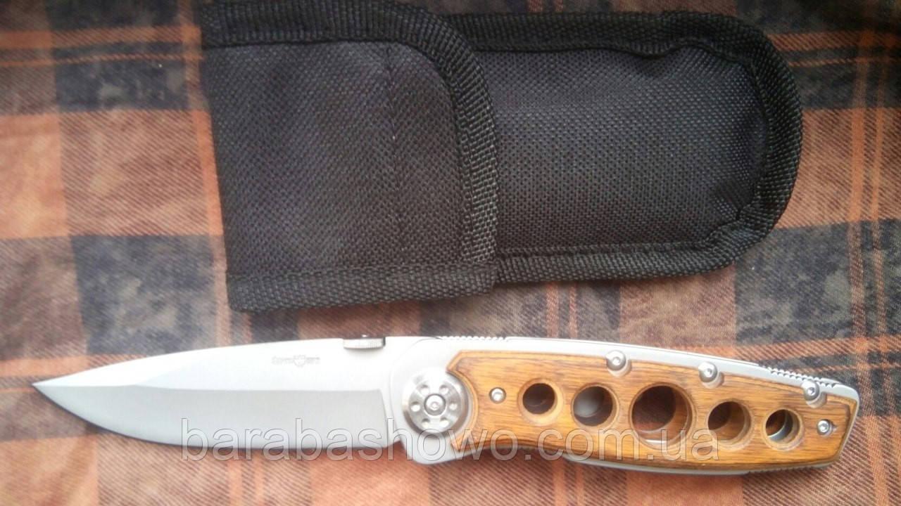 Нож складной 1333 Туристический на клипсе из качественной стали