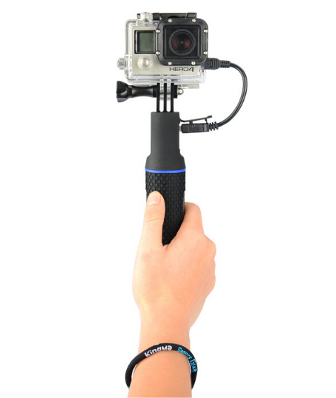 Зарядное устройство монопод-ручка со встроенным аккумулятором 5200mAh для экшн камер