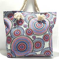 Пляжная текстильная летняя сумка для пляжа и прогулок Орнамент