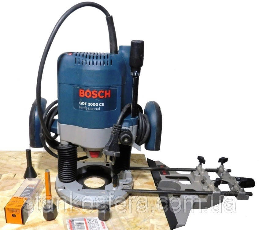 Фрезер Bosch GOF 2000 CE бо + цанги 10 і 12 мм + CMT фреза 912.622.11 D=12 мм