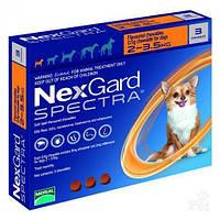 Merial NexGard SPECTRA- жевательная таблетка для собак S (2-3.5 кг) 3таблетки