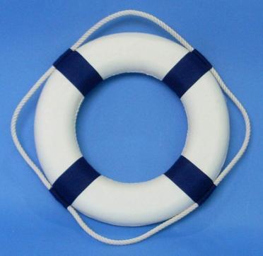 Круг спасательный диаметр 65х40мм синий 70004