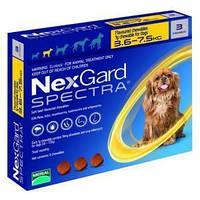 Merial NexGard Spectra - жевательная таблетка для собак (3.6-7.5) 3таблетки