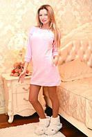 Короткое женское платье-туника с карманами