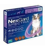 Merial NexGard SPECTRA- жевательная таблетка для собак  (15.1-30 кг ) 3таблетки
