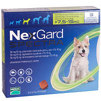 Merial NexGard SPECTRA- жевательная таблетка для собак (7.6 - 15кг ) 3таблетки