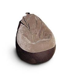 Кресло груша велюр+кож-зам