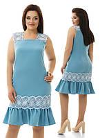 Платье с льняным кружевом