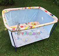 """Манеж детский с мелкой сеткой Kinderbox """"Пчелки розовые"""", фото 1"""