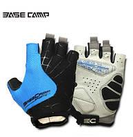 Велосипедні рукавиці Basecamp BC202 безпалі, сині, розмір L