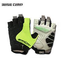 Велосипедні рукавиці Basecamp BC202 безпалі, зелені, розмір L