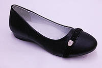 Туфли Леопард (1283-16 черн) Туфли для девочек.