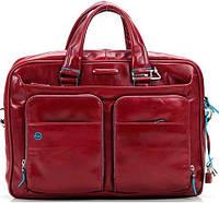 Кожаный портфель Piquadro красный