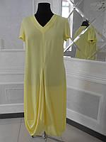 Платье летнее желтое большого размера