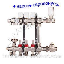 """Колектор для теплої підлоги 1""""х 4 виходів SD Forte"""