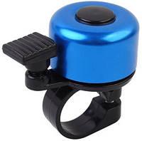 Звонок для велосипеда MirAks RG-3661 Light Blue (Голубой/алюминий/механический)