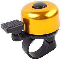 Звонок для велосипеда MirAks RG-3661 Gold (Золотой/алюминий/механический)