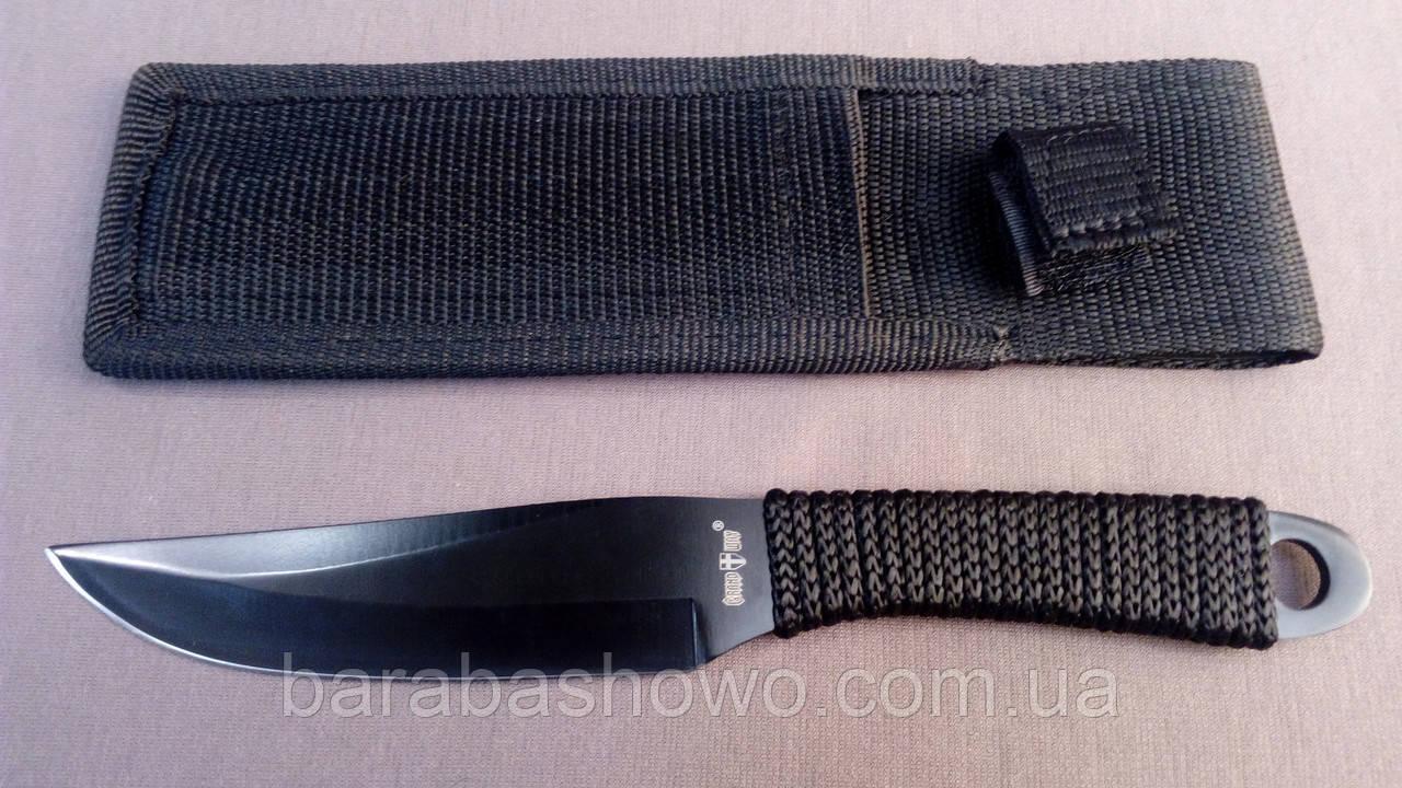 Нож специальный, метательный Черный Клык ,недорогой туристический