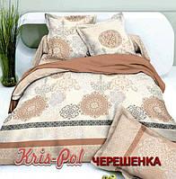 Семейный набор хлопкового постельного белья из Сатина №0023 KRISPOL™