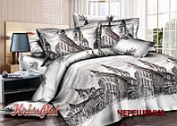 Семейный набор хлопкового постельного белья из Сатина №023 KRISPOL™