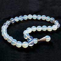 Лунный камень, серебро, четки, 133ЧТЛ
