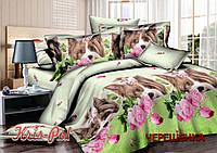 Семейный набор хлопкового постельного белья из Сатина №038 KRISPOL™