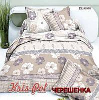 Семейный набор хлопкового постельного белья из Сатина №0040 KRISPOL™