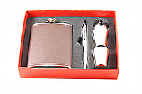 ФЛЯГА F3-399 (8 OZ), фляга с рюмками подарочная, сувенирный набор