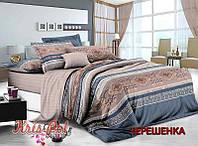 Семейный набор хлопкового постельного белья из Сатина №065 KRISPOL™