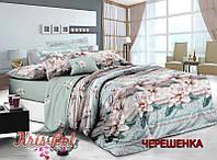 Семейный набор хлопкового постельного белья из Сатина №097 KRISPOL™
