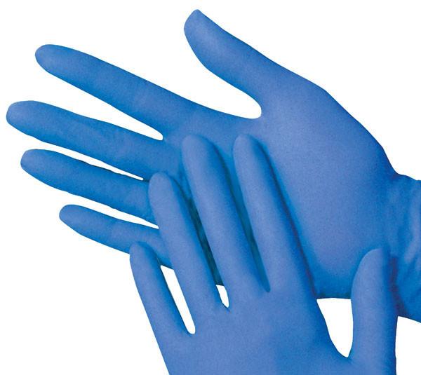 Перчатки нитриловые  медицинские синие