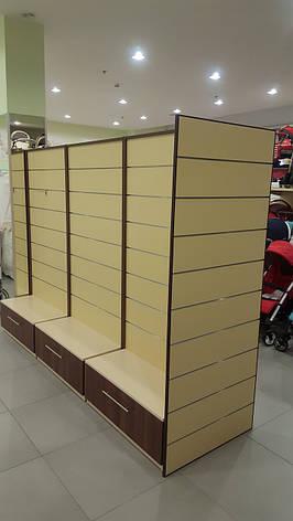 Стеллаж для магазина с экономпанелью 1500х1000, фото 2