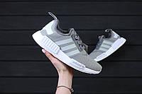 Крутые женские кроссовки Adidas NMD  GRAY / адидас Реплика (1:1 к оригиналу)