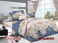 Семейный набор хлопкового постельного белья из Сатина №654 KRISPOL™