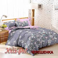 Семейный набор хлопкового постельного белья из Сатина №733AB KRISPOL™