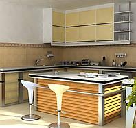 Дизайн-проект интерьера - кухня бамбук