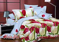Семейный набор хлопкового постельного белья из Сатина №3986 KRISPOL™