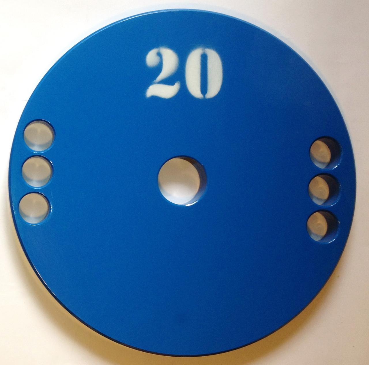 Диск олімпійський металевий 20 кг
