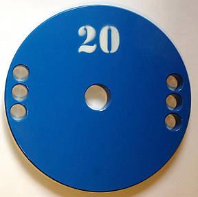 Диск олімпійський металевий 20 кг, фото 2