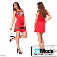 Молодежное кроткое платье с вставками Little Secret красное