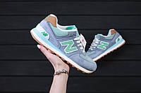 Стильные и яркие женские кроссовки New Balance 574 Light Blue / Реплика / 1:1 к оригиналу