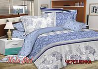 Семейный набор хлопкового постельного белья из Сатина №161157AB KRISPOL™